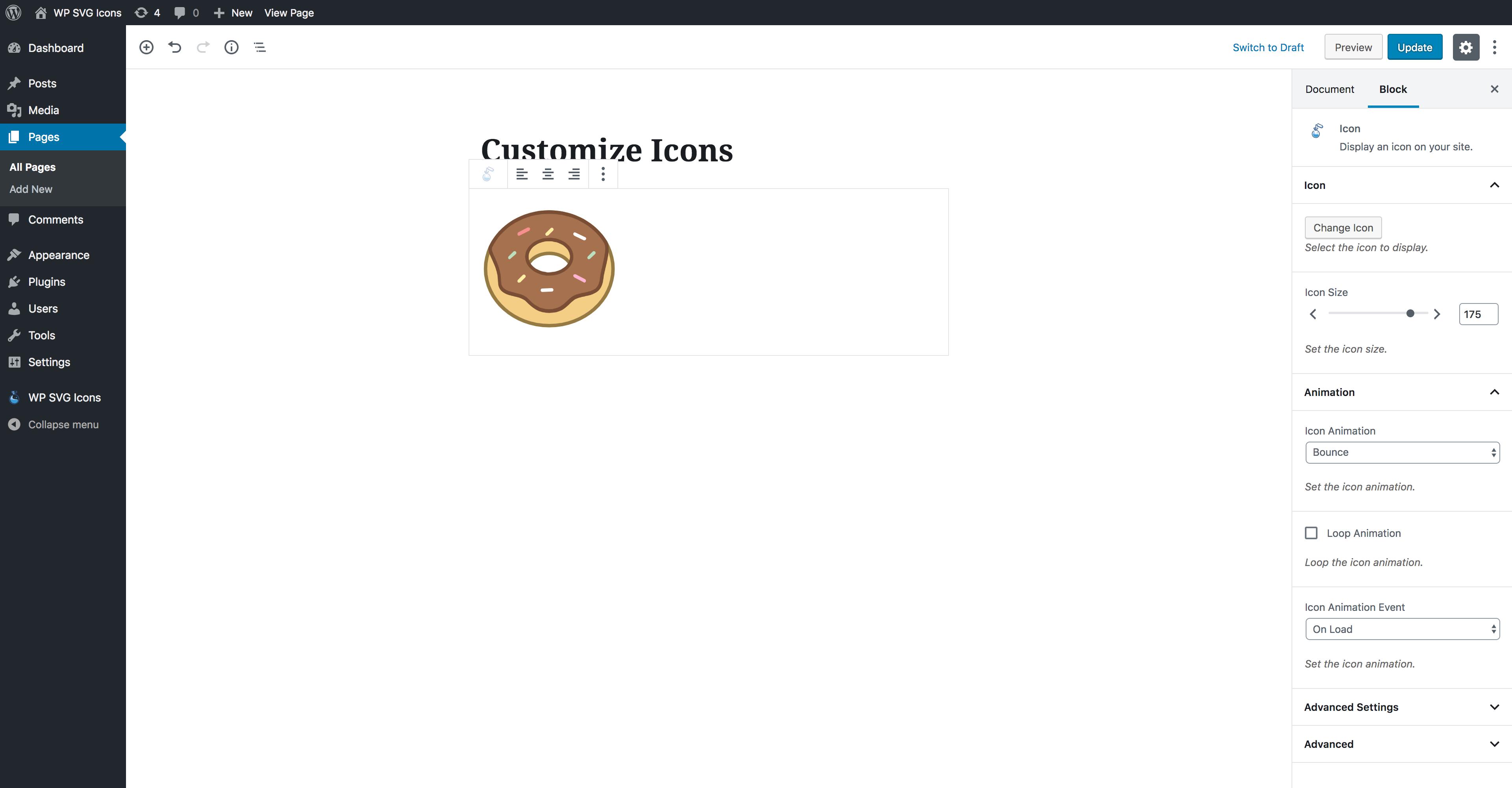 WPIcons - Icon Block